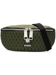 Versus Logo Zipped Belt Bag Green