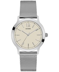 Guess Men's Classic Stainless Steel Mesh Bracelet Watch 37Mm U0921g2 Silver