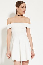 Forever 21 Off The Shoulder A Line Dress Ivory