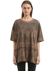 Yeezy Forest Printed Cotton Jersey T Shirt