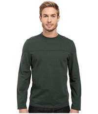 Royal Robbins Pigment Terry Long Sleeve Crew Green Gables Men's Long Sleeve Pullover