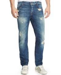 Guess Dylan Distressed Slim Fit Jeans Helmet