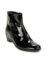 The Flexx Labyrinth Patent Leather Ankle Boots Black