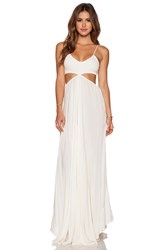 Indah Innocence Cutaway Maxi Dress White