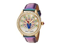 Betsey Johnson Bj00517 47 Peacock Rainbow Gold Watches Yellow