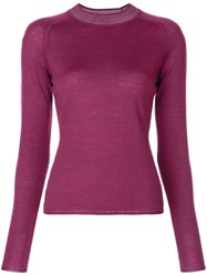 Rag And Bone Fitted Knitted Jumper Purple