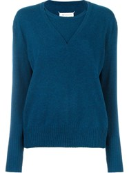 Maison Martin Margiela Layered Effect Sweater Blue
