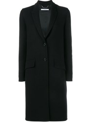 Givenchy Button Front Coat Black