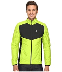Salomon Drifter Mid Jacket Granny Green Black Men's Coat Yellow