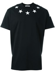 Givenchy Star Embroidered T Shirt Black