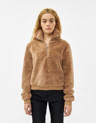 Which We Want Brynn Teddy Pullover Brown