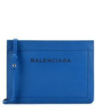 Balenciaga Navy Small Leather Shoulder Bag Blue