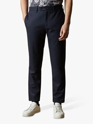 Ted Baker Corntro Micro Check Trousers Navy