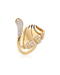 Miseno Ventaglio 18K Gold Diamond Fan Ring
