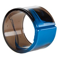 Resin Napkin Ring Blue And Clear Black