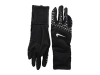 Nike Printed Sphere 360 Run Gloves Black Black Silver Extreme Cold Weather Gloves