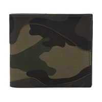 Valentino Bonded Camouflage Billfold Wallet Green