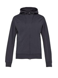 Y 3 Zip Through Cotton Hooded Sweatshirt Grey