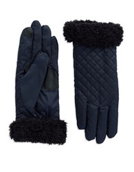 Echo Fleece Trimmed Gloves Indigo
