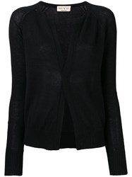 Ma'ry'ya Long Sleeve Fitted Cardigan Black