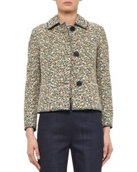 Akris Punto Static Tweed Three Button Jacket Multi Multi Color