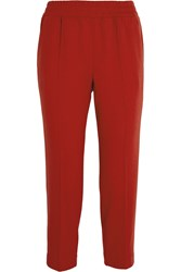 J.Crew Cropped Flannel Straight Leg Pants Red