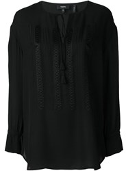 Theory Drawstring Tunic Black