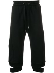 Helmut Lang Cropped Loose Fit Trousers Black