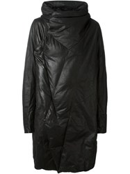 Julius Panelled Padded Coat Black