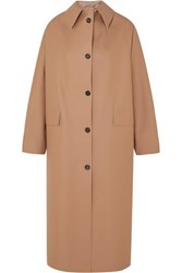 Kassl Editions Faux Leather Coat Beige