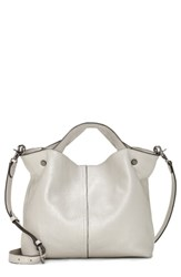 Vince Camuto Small Niki Leather Tote Metallic New Silver