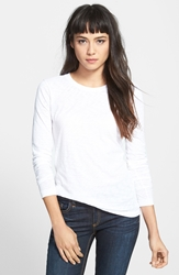 Rag And Bone Long Sleeve Burnout Tee White