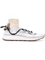 Adidas Originals By Alexander Wang Run Sock Sneakers Unisex Leather Polyamide Rubber 5.5 White