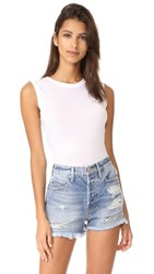 Enza Costa Fitted Muscle Tee White