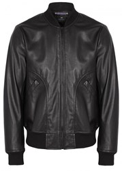 Paul Smith Ps By Black Leather Bomber Jacket