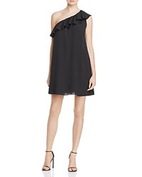 French Connection Polly Plains One Shoulder Dress Black