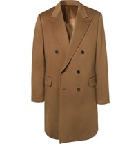 Kingsman Double Breasted Cashmere And Wool Blend Overcoat Brown