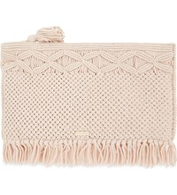 Melissa Odabash Cauritius Woven Clutch Natural