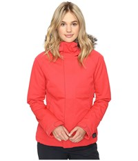 O'neill Curve Jacket Poppy Red Women's Coat