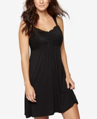A Pea In The Pod Lace Trim Nursing Nightgown Black