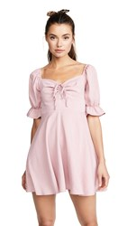 Re Named Puff Sleeve Ruched Dress Mauve