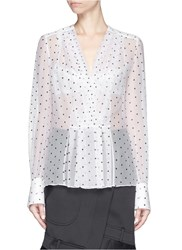 Givenchy Rubber Cross Print Silk Shirt White