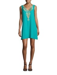 Lilly Pulitzer Owen Embroidered Trapeze Dress Agate Green