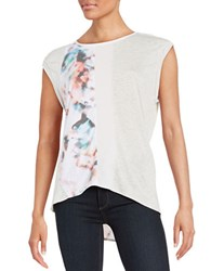 Ck Calvin Klein Colorblocked Knit Top