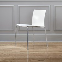 Cb2 Slim White Chair