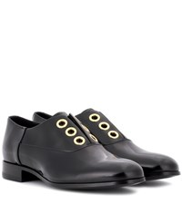 Pierre Hardy Polished Leather Derby Shoes Black