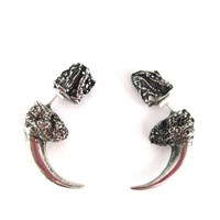 Eilisain Jewelry The Hunted Silver Faux Owl Talon Earrings