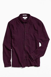 Urban Outfitters Uo Stevens Cross Dyed Button Down Shirt Plum