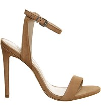 Office Alana Nubuck Leather Sandals Nude Nubuck