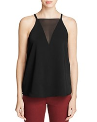 Cooper And Ella Daria Sheer Paneled Tank Black